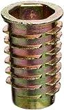 E-Z Lok Threaded Insert, Zinc, Hex-Flanged, 5/16''-18 Internal Threads, 25mm Length (Pack of 25)