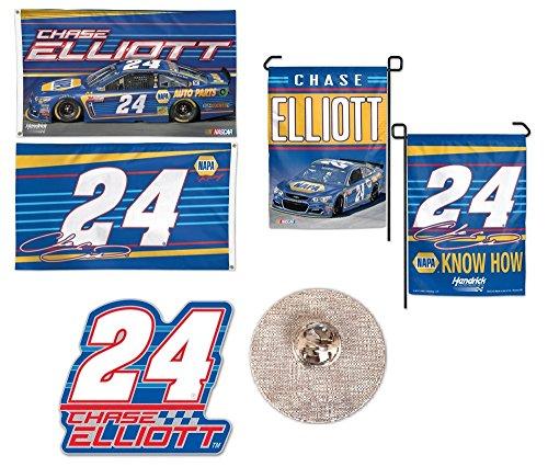 Chase Elliott NASCAR 3-Piece Fan Bundle  – 3 items: 2-Side