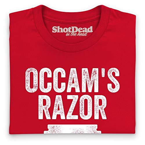 Mujer Camiseta Razor Para Novelty Rojo Occam's qZFxIw