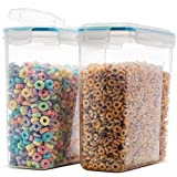 Komax Biokips Durable Cereal Container Set | 2 Large (16.9 cups 135 oz), Airtight Food Storage Containers - Food Safe, BPA Free Cereal Dispenser | Flour, Sugar, Dry Food Storage Containers with Lids