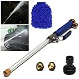 Magic High Pressure Wand,Power Washer Wand Hydro Jet Water Gun Water Hose Nozzle Garden Hose Sprayer With Cleaning Gloves For Car Wash And Window Washing