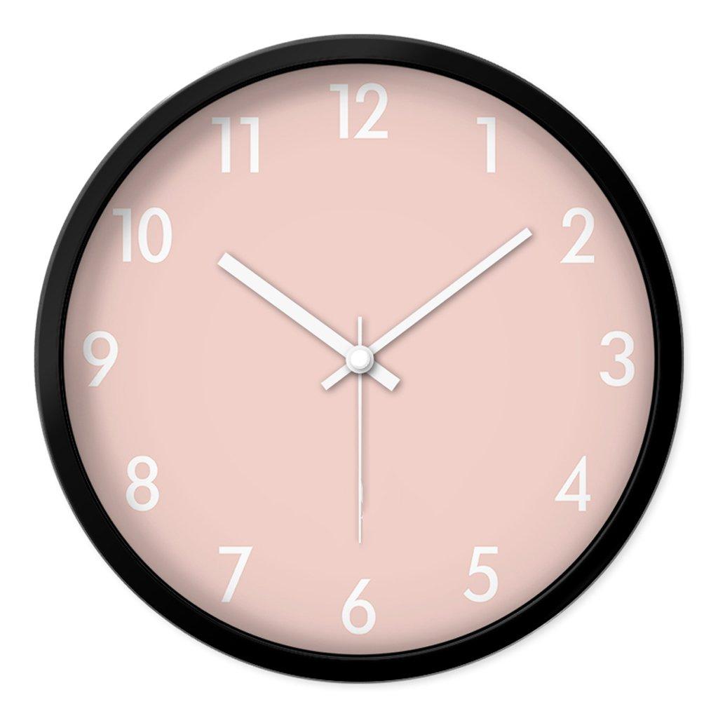 Unbekannt FANJIANI Mute Wanduhr Persönlichkeit Cartoon Nette Uhr Kinderzimmer Mute Quarzuhr Uhr Hängende Tabelle Kreative Wohnzimmer Schlafzimmer Quarzuhr (Farbe : Schwarz, größe : 14 inches)