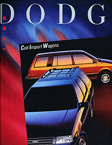 Dodge Wagon Vista Colt (1989 Dodge Colt Wagon Vista by Mitsubishi Original 12-page Car Sales Brochure Catalog)