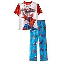 Boys Spiderman Baseball Jersey 2-Piece Pajama Sleepwear Set, Kids Sizes 4-12