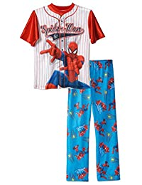 Boys Spiderman Baseball Jersey 2-piece Pajama Sleepwear Set , Kids Sizes 4-12