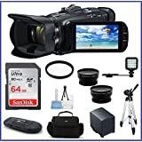 Canon VIXIA HF G40 Full HD Camcorder Pro 2 Bundle, Includes: 64GB SDXC Class 10 Memory Card, Spare Battery, Full Size Tripod, Telephoto & Wide Angle Lenses, Camcorder Bag and more...