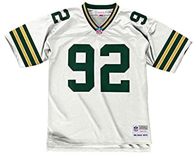 Reggie White Green Bay Packers White 1996 Mitchell & Ness Throwback Jersey