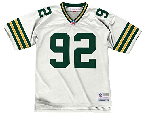 Reggie White Green Bay Packers White 1996 Mitchell & Ness Throwback Jersey (L)