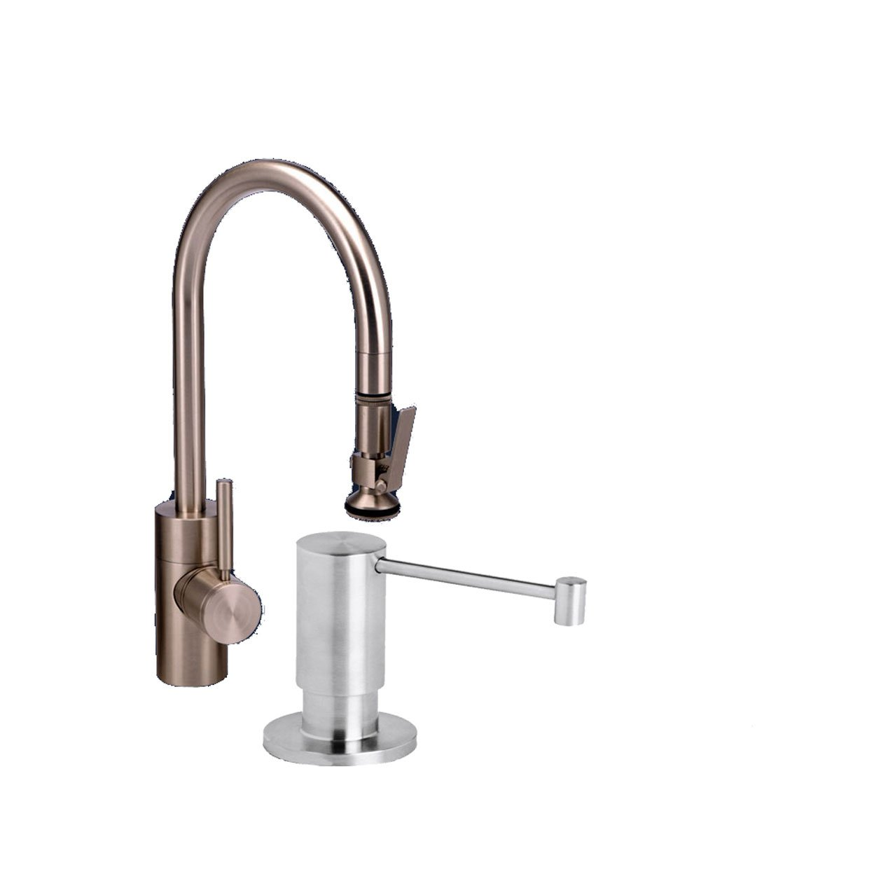 Waterstone 5800-2-SS Standard Reach PLP Pull Down Faucet, Solid Stainless Steel