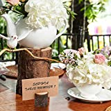Wanapure 15 Pack Rustic Wood Table Number Holders
