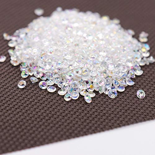 ONION STICKER 1000PS 4.2mm Acrylic Diamond Confetti Wedding Decoration Crafts Diamond Confetti Table Scatters Clear Crystal Centerpiece Party (Royal Blue Silver)
