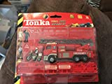 tonka power trax accessory set red firetruck diecast and plastic playset