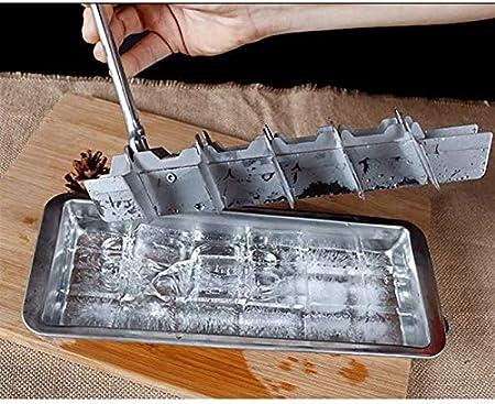 Sdesign Bandeja de Cubitos de Hielo, Moldes de Cubitos de Hielo de Silicona con Tapas, Esfera y heladería de Hielo Cuadrado para congelador Alimentos para bebé/Whisky Bebida de cóctel/Pudín de Car