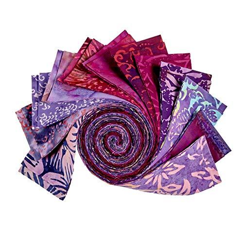 (Batik by Mirah 2.5'' Strip Rolls Ambrosia 24 pcs.)