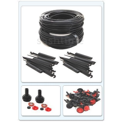142 PIECE ITEMS WATER IRRIGATION SYSTEM DRIP WATERING GARDEN KIT MASSIVE Ocean express