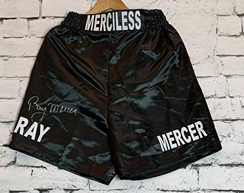 Ray Mercer Signed Autographed Black Boxing Trunks - JSA COA Autographed Black Boxing Trunks