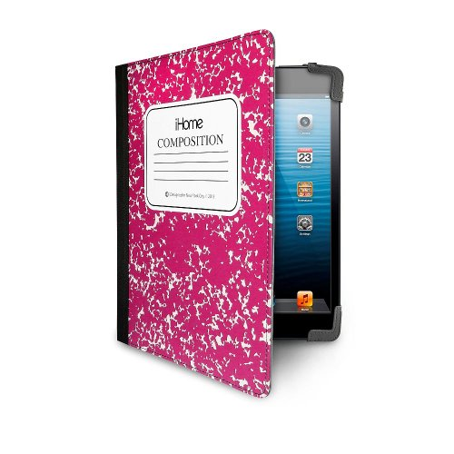 iHome | Composition Notebook - Folio Case for iPad Mini - Pink (See More Colors) (Mini Ipad Marc Case Jacobs)