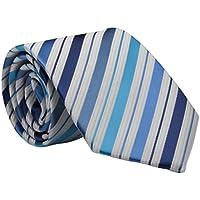 Boys Classic Blue Stripe Tie, Youth 45 inch