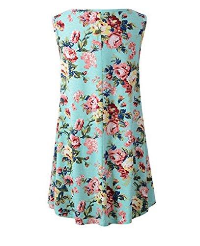 Stampato Coolred Maniche lungo Floreale Medio Girocollo Pullover Senza Vestito donne Pattern1 xTqIRg