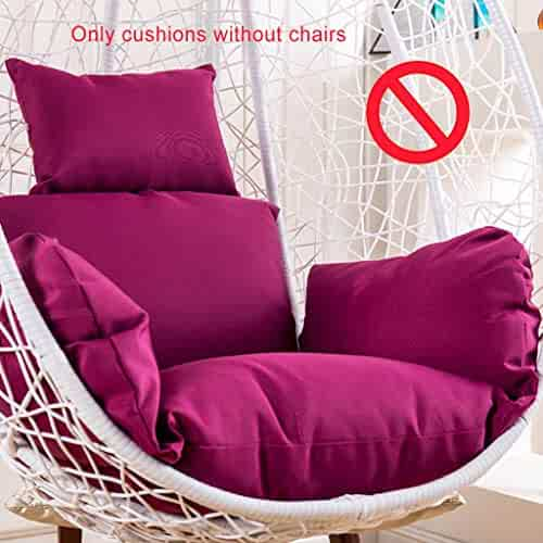 Rocking Chair Cushion Set Seat Cushioning Pad High Back Chair Cover Chaise Lounge Cushion Mattress Pillow with Ties Washable-A 120x48x8cm 47x19x3inch