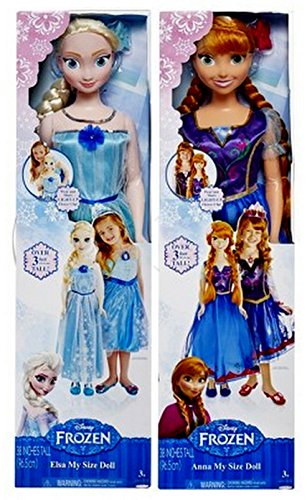 DISNEY FROZEN MY SIZE ELSA AND ANNA DOLL