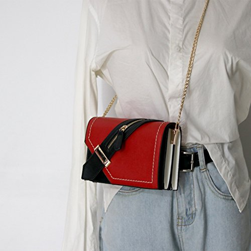 des à partie messager de facultatives petit de de main de femmes simple ZCM main mode des sacs à de en pour 4 à cuir sac main femme Sac couleurs d'épaule Rouge sac qF1454x7w