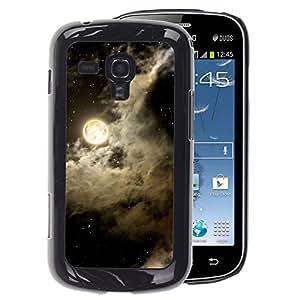 A-type Arte & diseño plástico duro Fundas Cover Cubre Hard Case Cover para Samsung Galaxy S Duos S7562 (Sky Clouds Night Stars Black White)