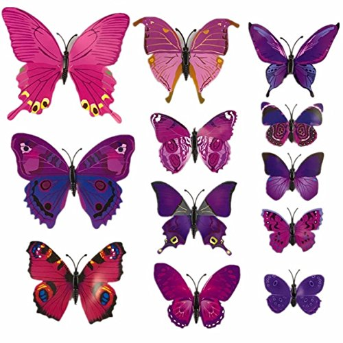 1 Set (12 Pcs/Set) 3D Magnet Butterfly Wall Stickers Living Room Bedroom Boys Nursery Exceptional Popular Dream World Moon Star Ocean Sun Flower Removable Vinyl Window Mural Art Decor, Type-02 3 D Stickers Elmo