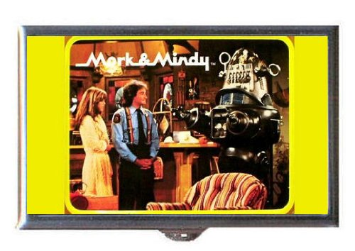 Mork & Mindy 1970s Robin Williams, Pam Dawber Guitar Pick or Pill Box USA Made
