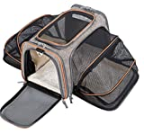 MOVEPEAK Pet Carrier for Dogs - Cats - Puppy with Airline Approved - Expandable Soft sided Pet Tote Carriers Bags - Folding Pets Kitten Totes Cats Carriers Bags - Portable Pet Supply Carrier Bags For Puppies