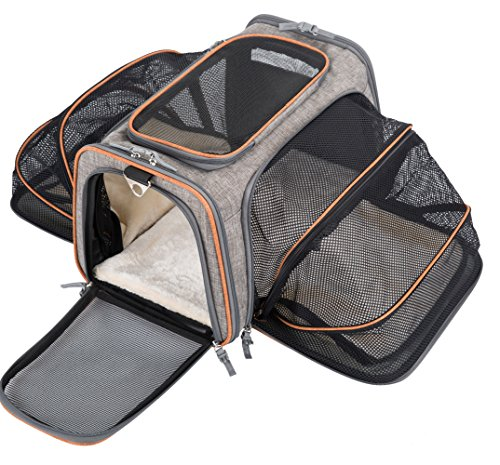 MOVEPEAK Pet Carrier for Dogs,Cats,Puppy with Airline Approved – Expandable Soft sided Pet Tote Carriers Bags,Folding Pets Kitten Cat Carriers Bags,Portable Pet Supply Carrier Bags For Puppies