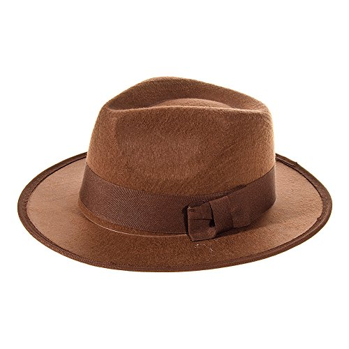 Archaeologist Costume Male (Explorer Hat Dressing Up Costume (Brown))