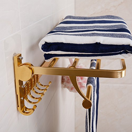 Free Punch Bathroom Towel Rack Shelf Space Aluminum Collapsible Suction Cup Towel Rack Strong Load-Bearing Wall Suction Towel Hook