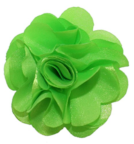Ted and Jack - Solid Silky Classic Flower Lapel Pin Boutonniere in Lime (Green Lapel Pins)