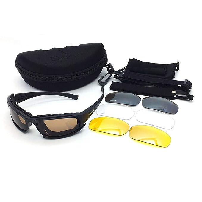 c65b57df1a Polarized Glasses - 4 Lens Kit Tactical Goggles Blocking Glare   UV ...