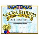 Social Studies Achievement Certificate - Glossy Paper - Quantity 150