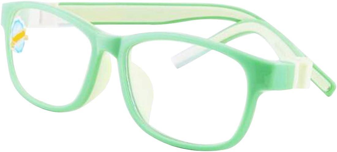 Inlefen Children Ultralight Glasses Frame Boy Girl Transparent Lens Glasses
