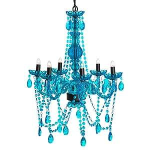 Amazon 3c4g chandelier turquoise home kitchen share facebook twitter pinterest aloadofball Gallery