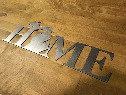 Home Michigan steel wall art sign For Sale