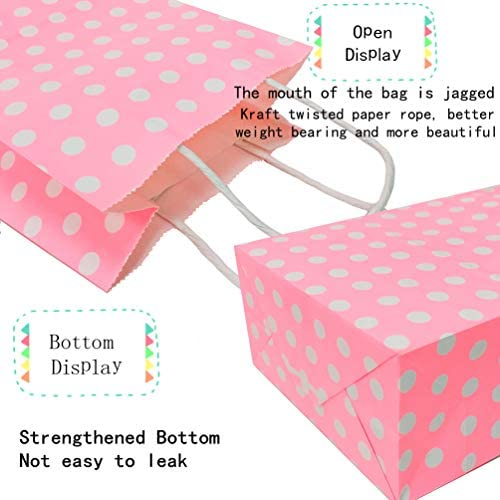 reusable gift bags hot pink polka dot Set of three gift bags pink and turquoise cotton gift bags washable gift bags leopard print