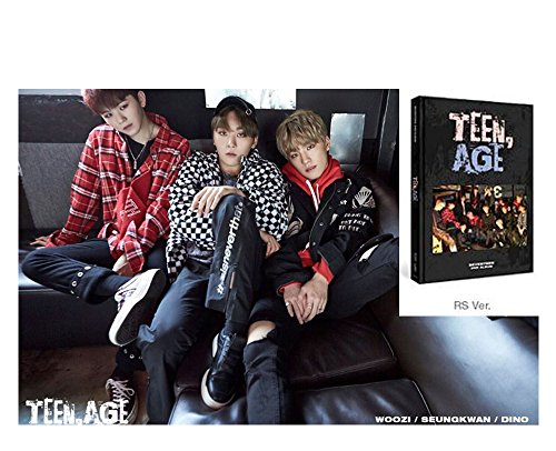 Price comparison product image TEEN AGE 2nd SEVENTEEN Album [RS Ver.] CD + Official Poster + Photo Book + Photo Card + Folding Poster + Name Sticker + Portrait Desktop Stand + Gift