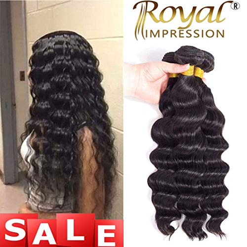 Remy Hair Human (Brazilian Virgin Hair Loose Wave 3 Bundles 10A Grade Unprocessed Virgin Human Hair Remy Hair Bundles Natural Color (10