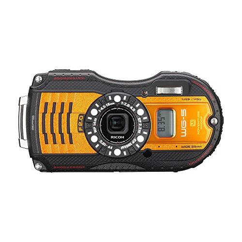 RICOH waterproof digital camera WG-5GPS orange waterproof 14m withstand shock 2.2m cold -10 degrees 04662 by Ricoh