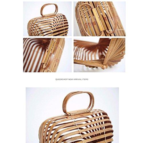 Salvajes De De De Manera Libre Bolso Viajes Playa Bambú Aire Portátiles Señoras Bolsa Modelos Al De La Bolso De Asas Las Transparente 8FUBBq