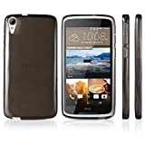 HTC Desire 828 Case, BoxWave [Pure Crystal Slip] Durable, Flexible Transparent Cover for HTC Desire 828 - Smoke Grey