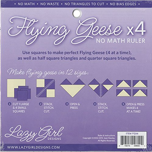 (Lazy Girl Designs Flying Geese X 4 No Math Ruler 8 1/4