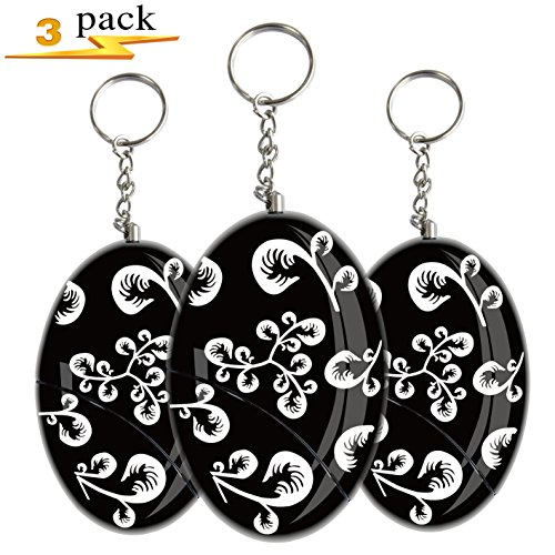 Siren Song Alarm Keychain Safe Sound Personal Alarm Keychain Security Alarm For Women Elderly Emergency Personal Alarm Safesound Sirens Song Nano Banshee Personal Alarm Protection Device 120 db 3 Pack