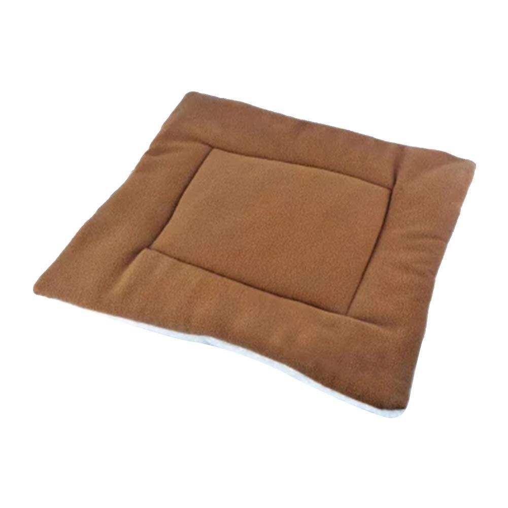 LAAT. Tapis Doux pour Chien Coussin De Chien Garder au Chaud Couverture Chien/Chat/ Animal de Compagnie Size 50 * 43CM (Orange-M)
