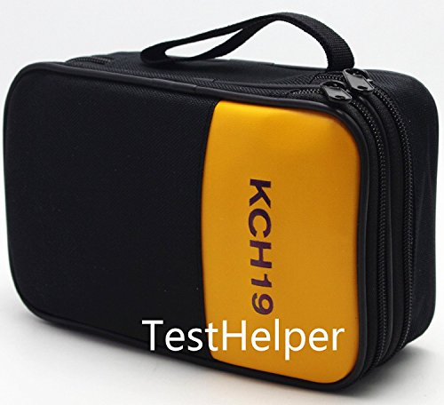 TestHelper KCH19 Double Layered & Padded Carrying Zipper Case with Wrist Strap Use For Handheld Multimeter,Phase Indicator,Thermometer, Calibrator,Clamp meter