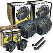 26 Inch Bike Tire Replacement Kit for Mountain Bike Tires 26 X 1.95 Includes Tools. with or Without Tubes Choo